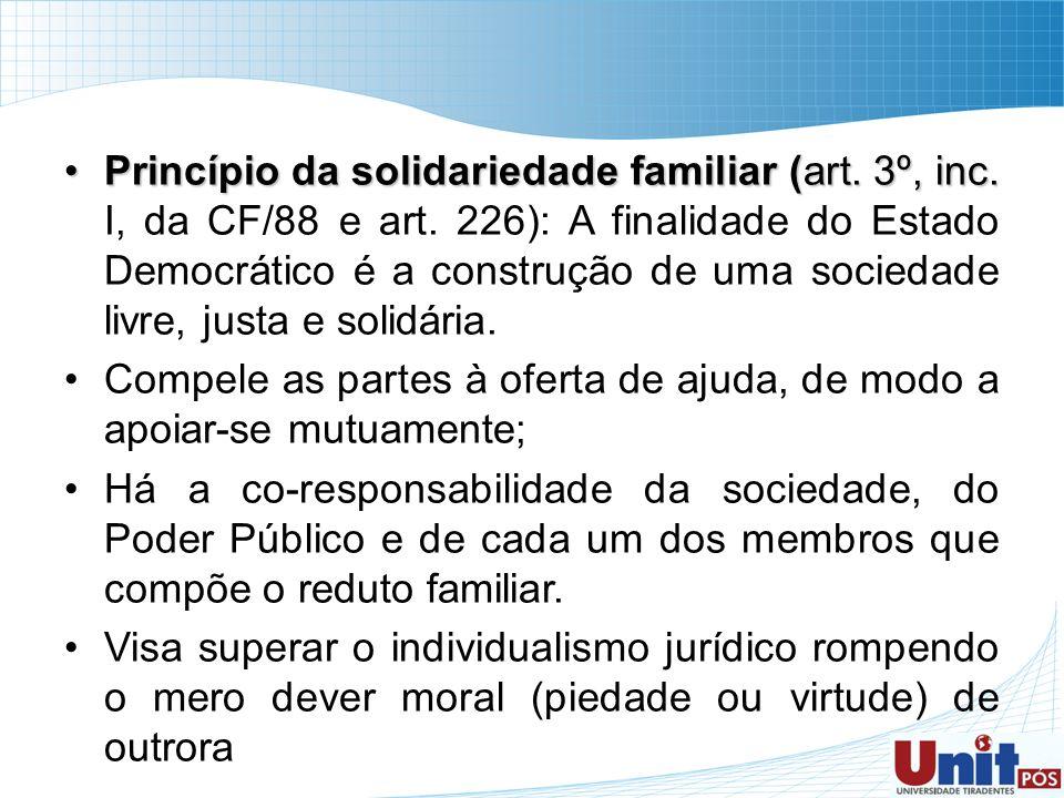 Princípio da solidariedade familiar (art. 3º, inc. I, da CF/88 e art