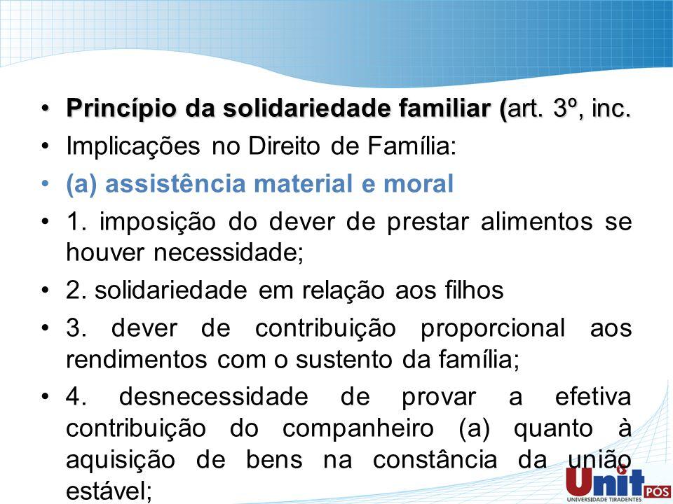 Princípio da solidariedade familiar (art. 3º, inc.