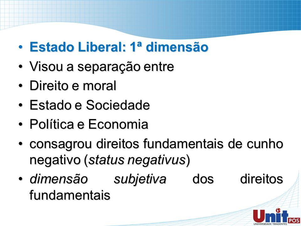 Estado Liberal: 1ª dimensão