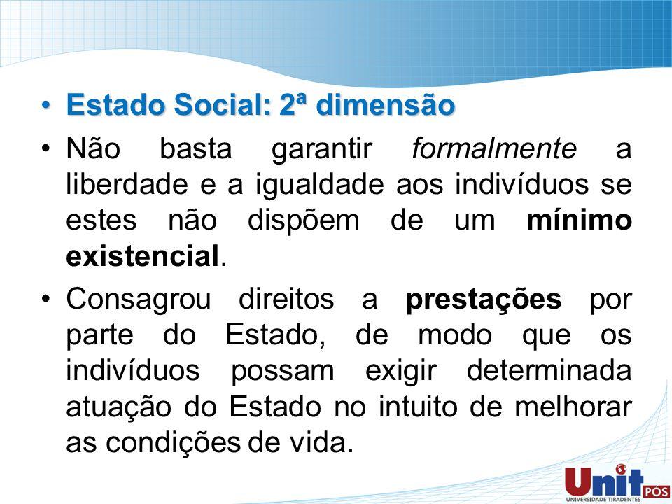 Estado Social: 2ª dimensão