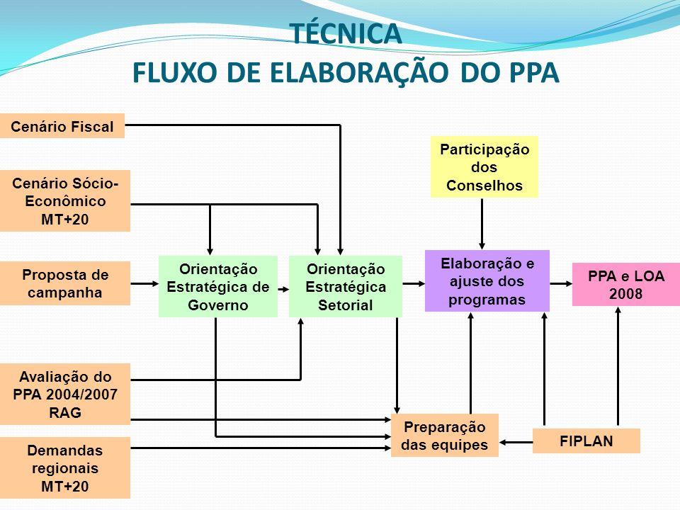 TÉCNICA FLUXO DE ELABORAÇÃO DO PPA