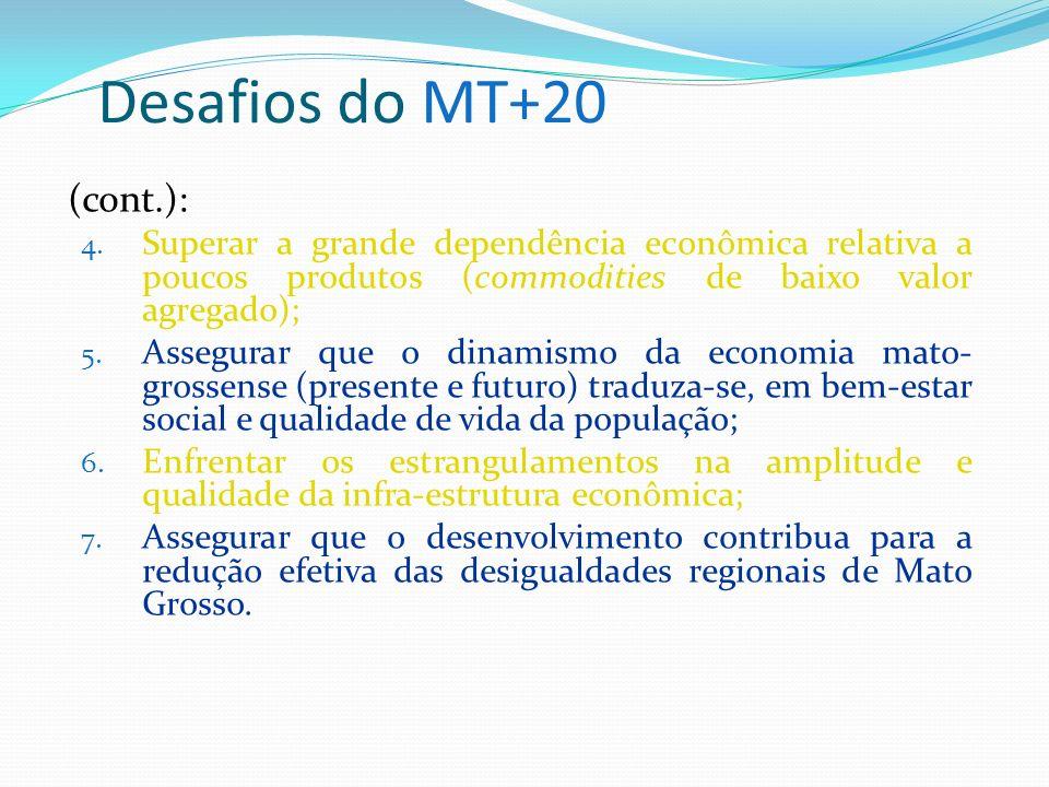 Desafios do MT+20 (cont.):