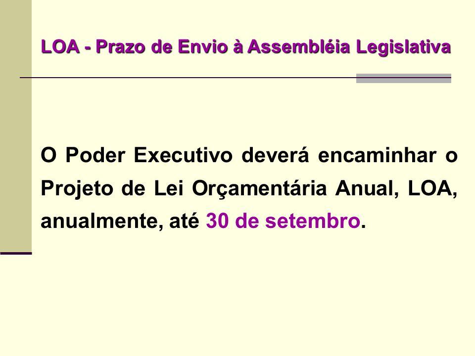 LOA - Prazo de Envio à Assembléia Legislativa
