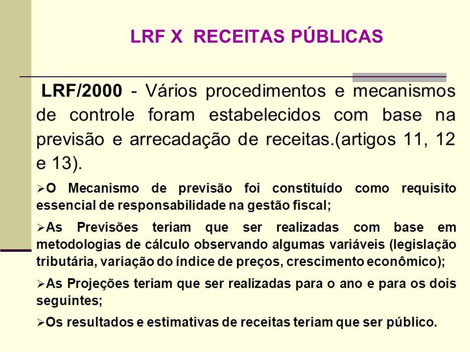 LRF X RECEITAS PÚBLICAS