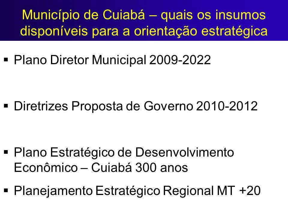 Município de Cuiabá – quais os insumos disponíveis para a orientação estratégica