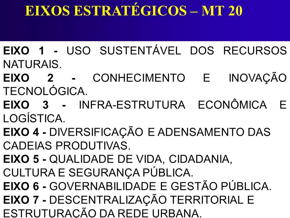 EIXOS ESTRATÉGICOS – MT 20
