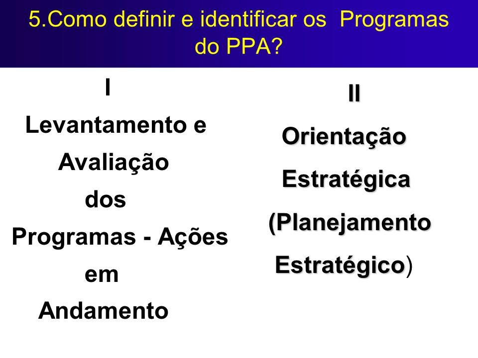 5.Como definir e identificar os Programas do PPA