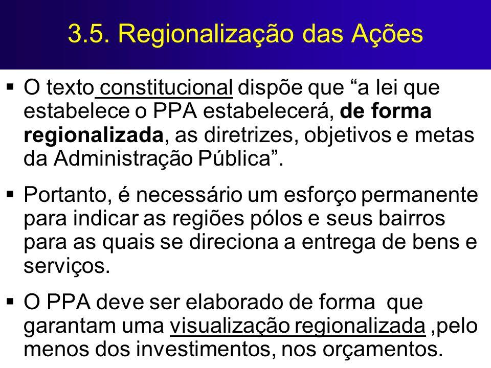 3.5. Regionalização das Ações