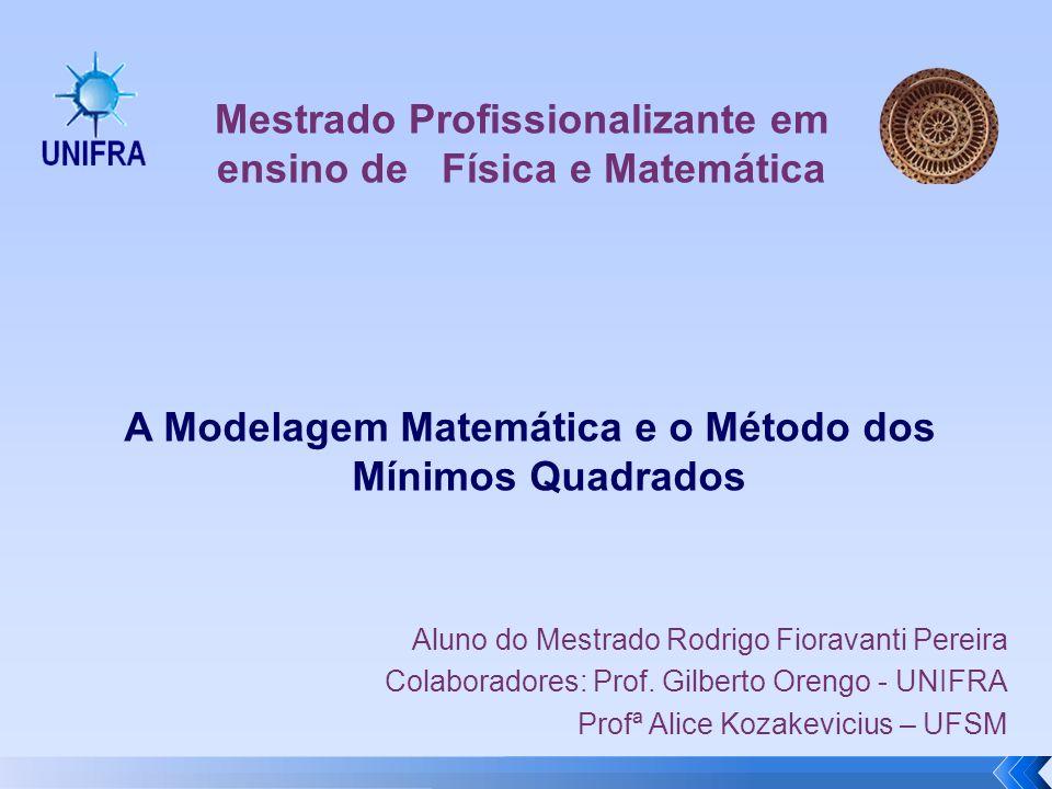 A Modelagem Matemática e o Método dos Mínimos Quadrados