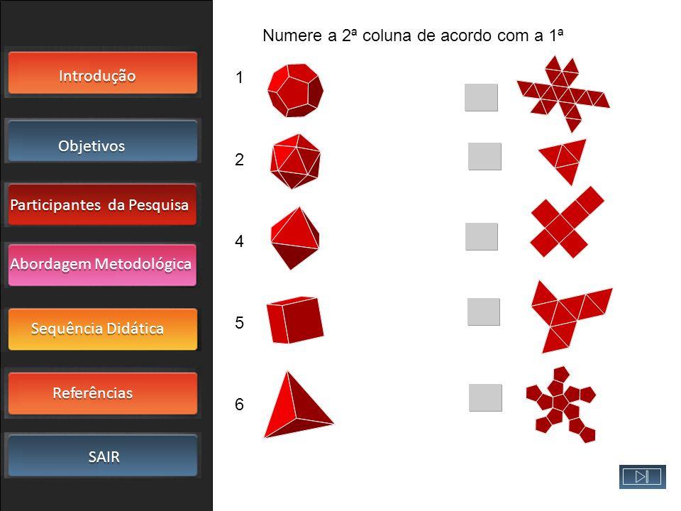 Numere a 2ª coluna de acordo com a 1ª
