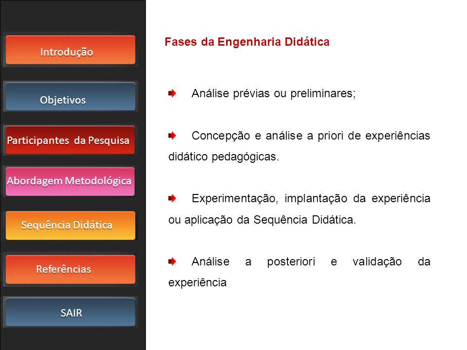 Fases da Engenharia Didática