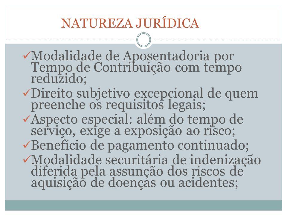 Direito subjetivo excepcional de quem preenche os requisitos legais;