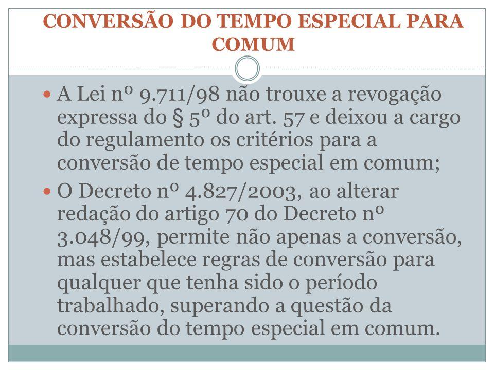 CONVERSÃO DO TEMPO ESPECIAL PARA COMUM