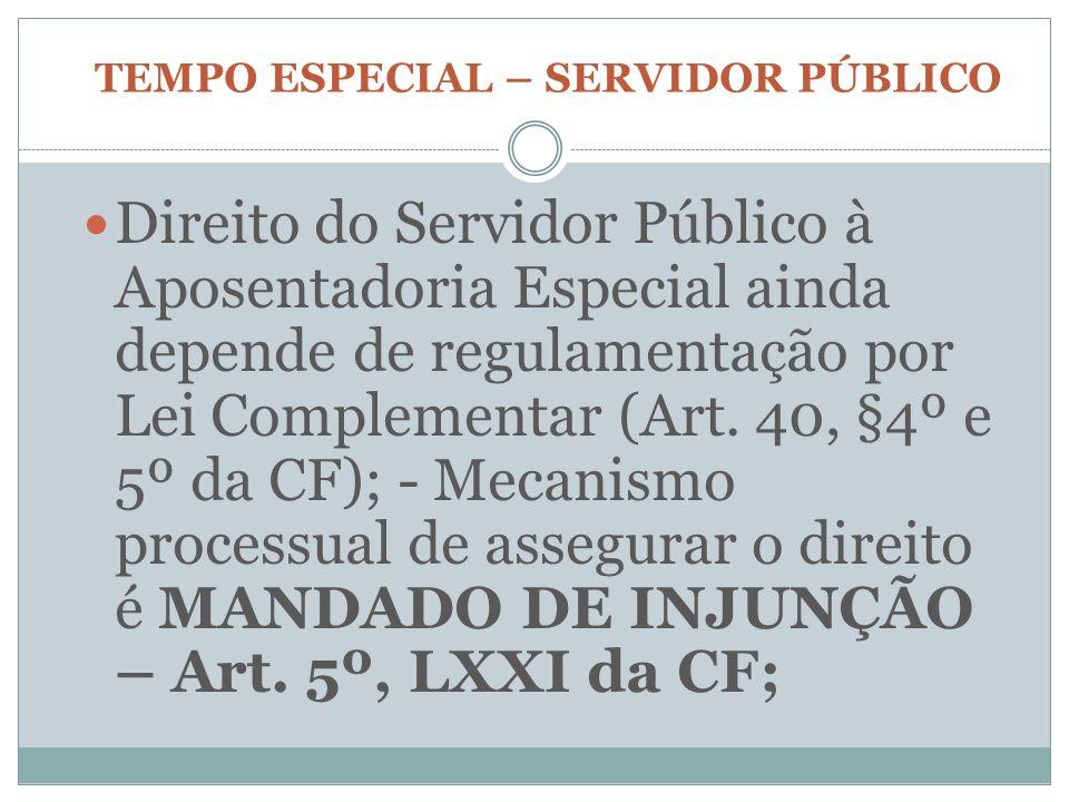 TEMPO ESPECIAL – SERVIDOR PÚBLICO