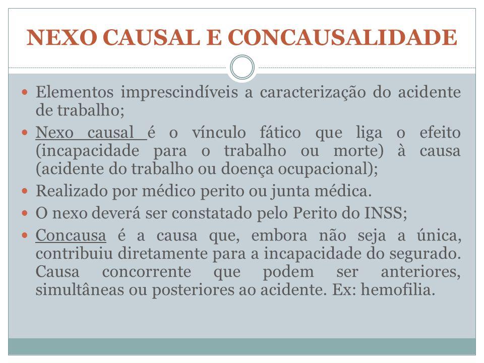 NEXO CAUSAL E CONCAUSALIDADE