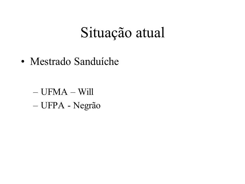 Situação atual Mestrado Sanduíche UFMA – Will UFPA - Negrão