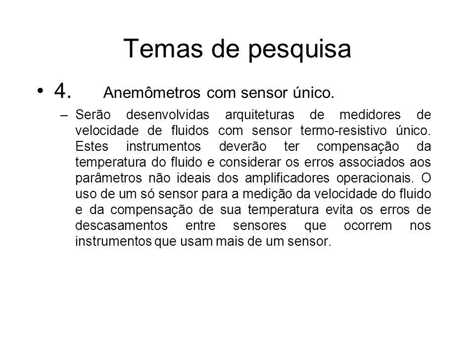 Temas de pesquisa 4. Anemômetros com sensor único.