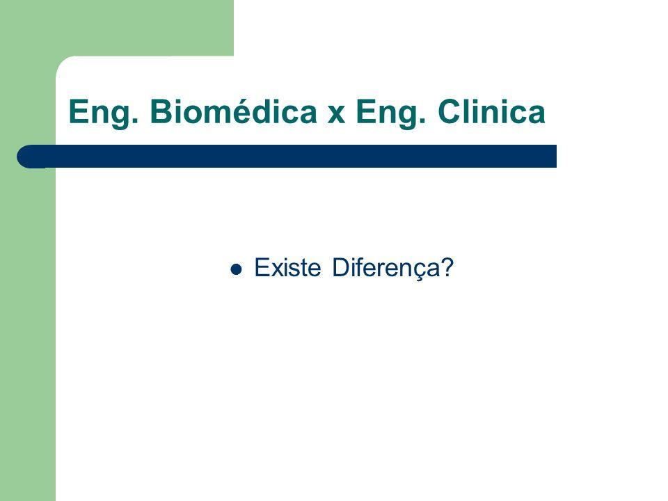 Eng. Biomédica x Eng. Clinica
