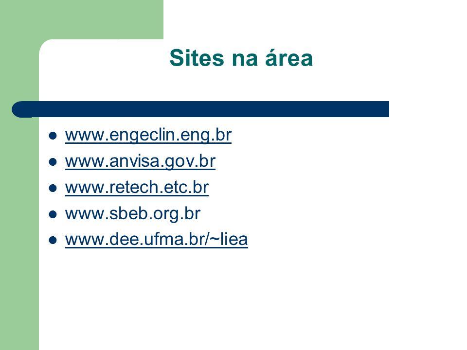Sites na área www.engeclin.eng.br www.anvisa.gov.br www.retech.etc.br