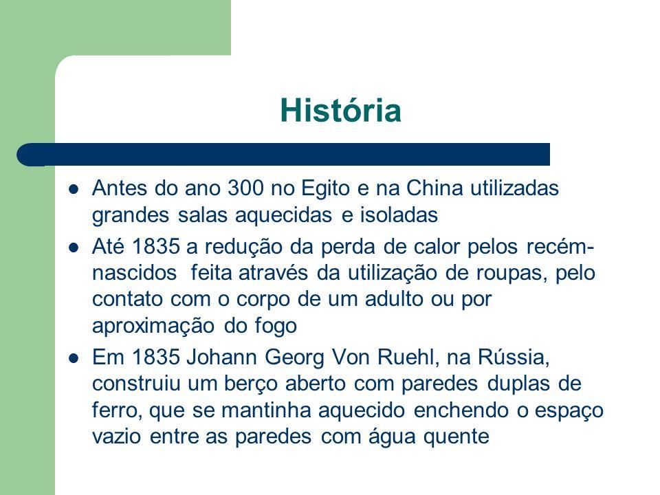 História Antes do ano 300 no Egito e na China utilizadas grandes salas aquecidas e isoladas.