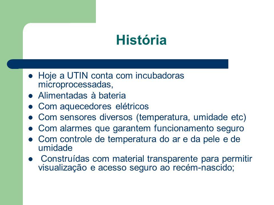 História Hoje a UTIN conta com incubadoras microprocessadas,