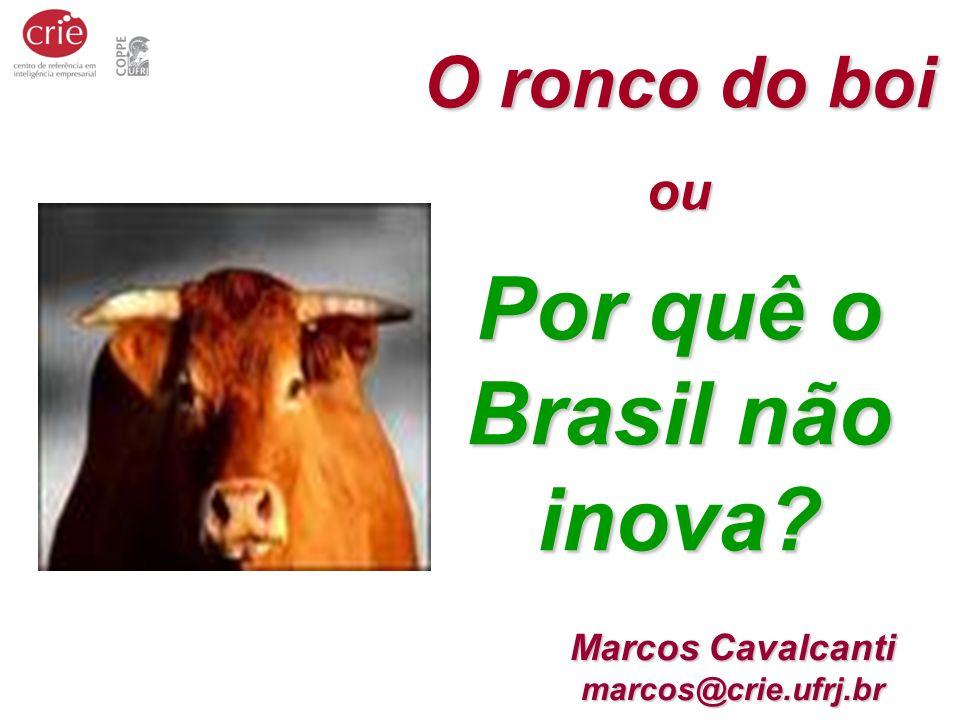 Por quê o Brasil não inova Marcos Cavalcanti marcos@crie.ufrj.br
