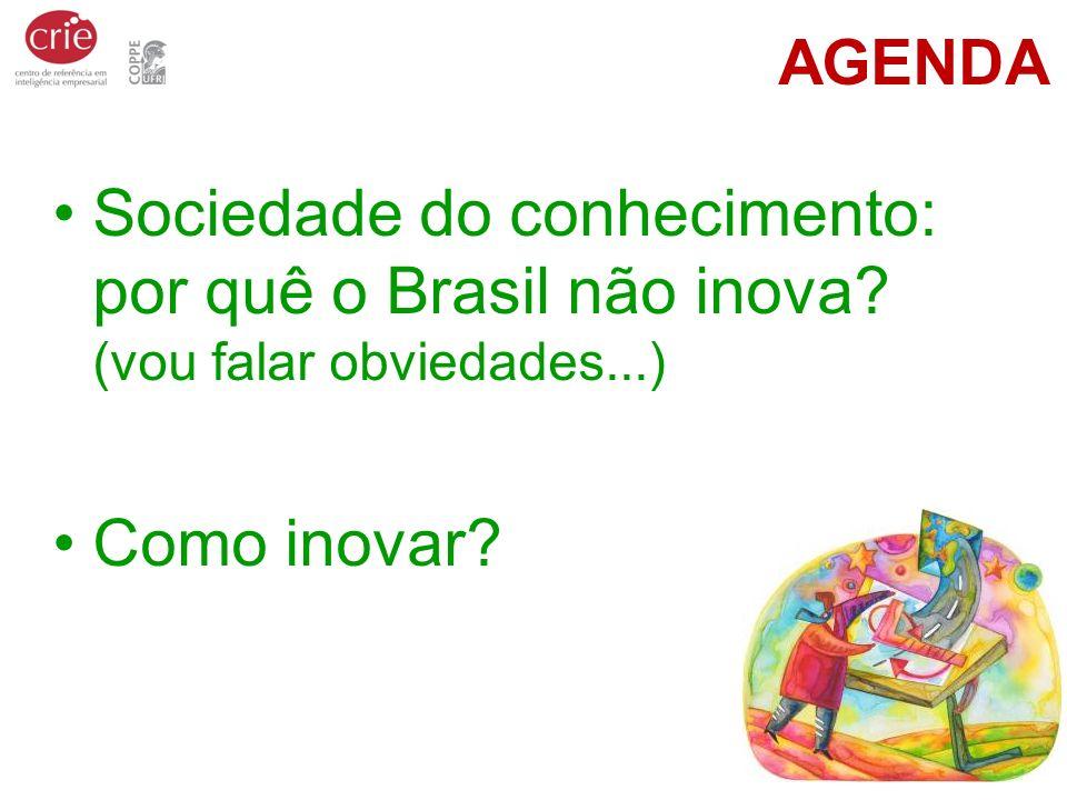 AGENDA Sociedade do conhecimento: por quê o Brasil não inova.