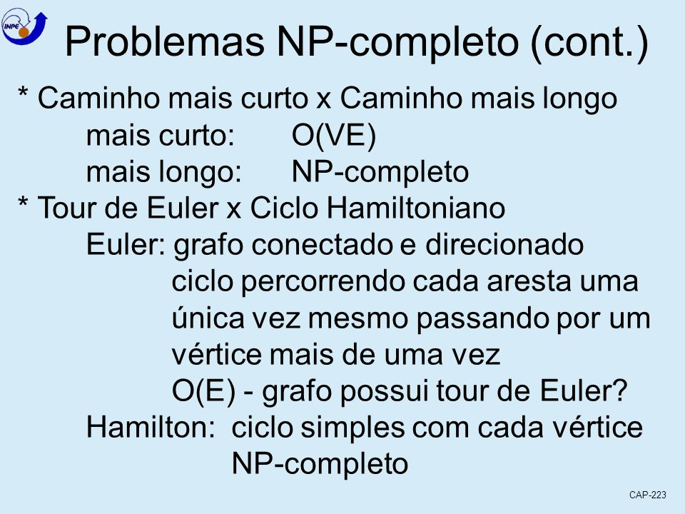 Problemas NP-completo (cont.)