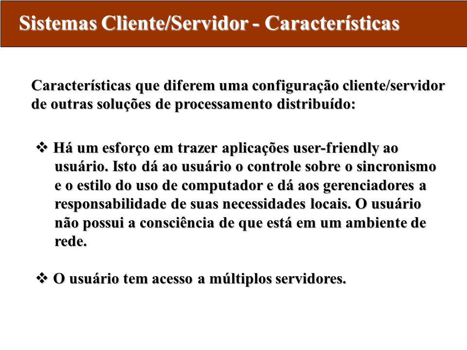 Sistemas Cliente/Servidor - Características
