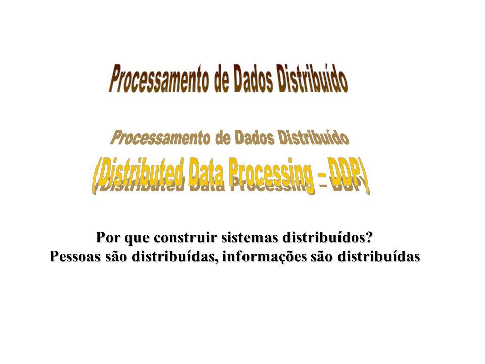 Processamento de Dados Distribuído (Distributed Data Processing – DDP)