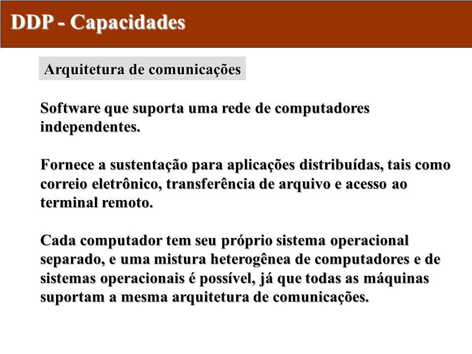 DDP - Capacidades Arquitetura de comunicações