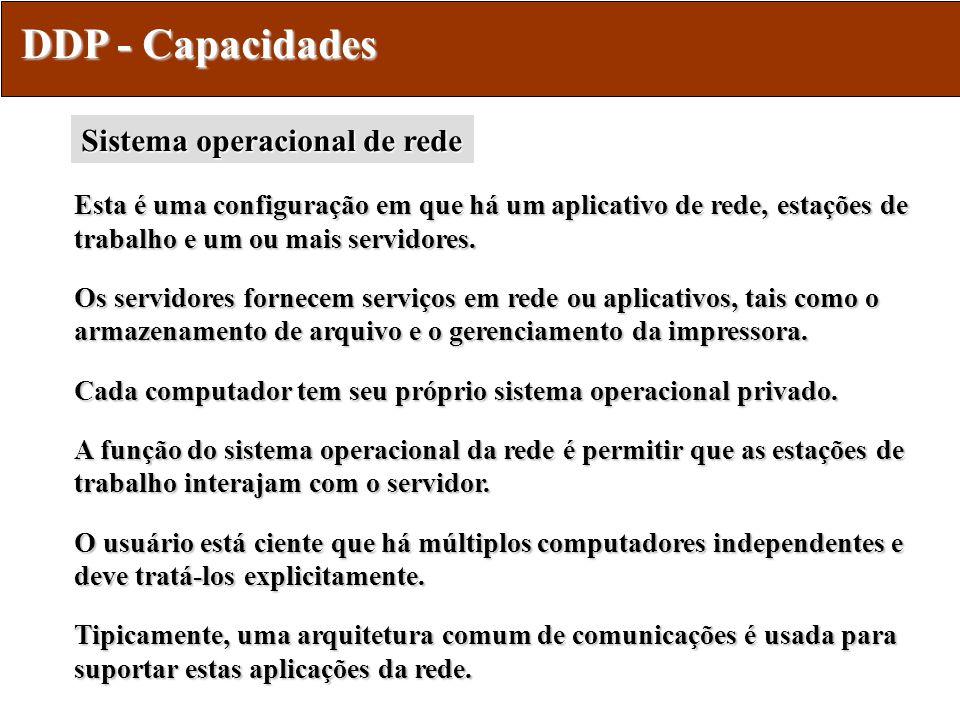 DDP - Capacidades Sistema operacional de rede