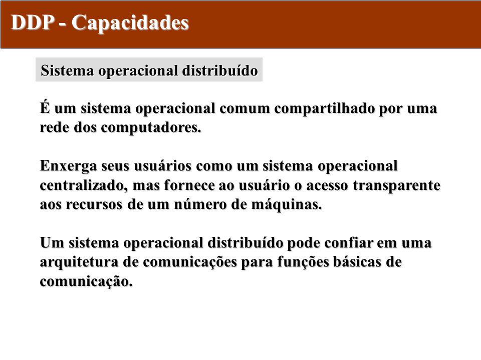 DDP - Capacidades Sistema operacional distribuído
