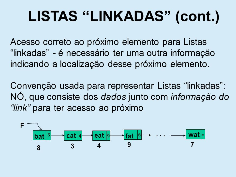LISTAS LINKADAS (cont.)