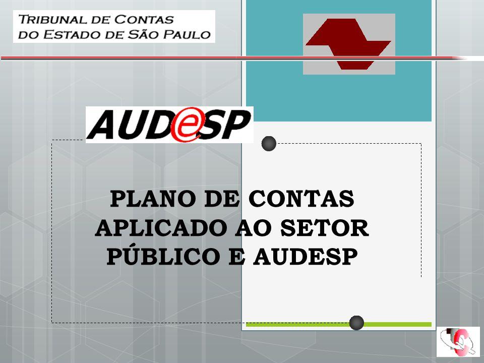 PLANO DE CONTAS APLICADO AO SETOR PÚBLICO E AUDESP