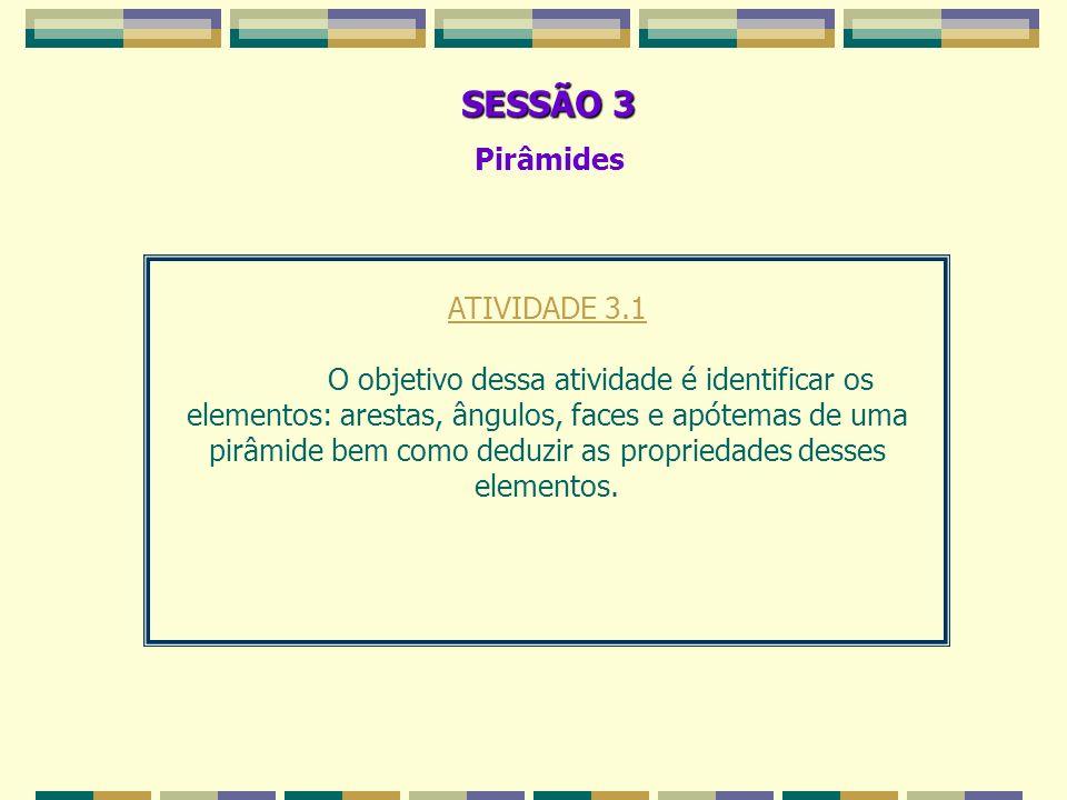 SESSÃO 3 Pirâmides ATIVIDADE 3.1