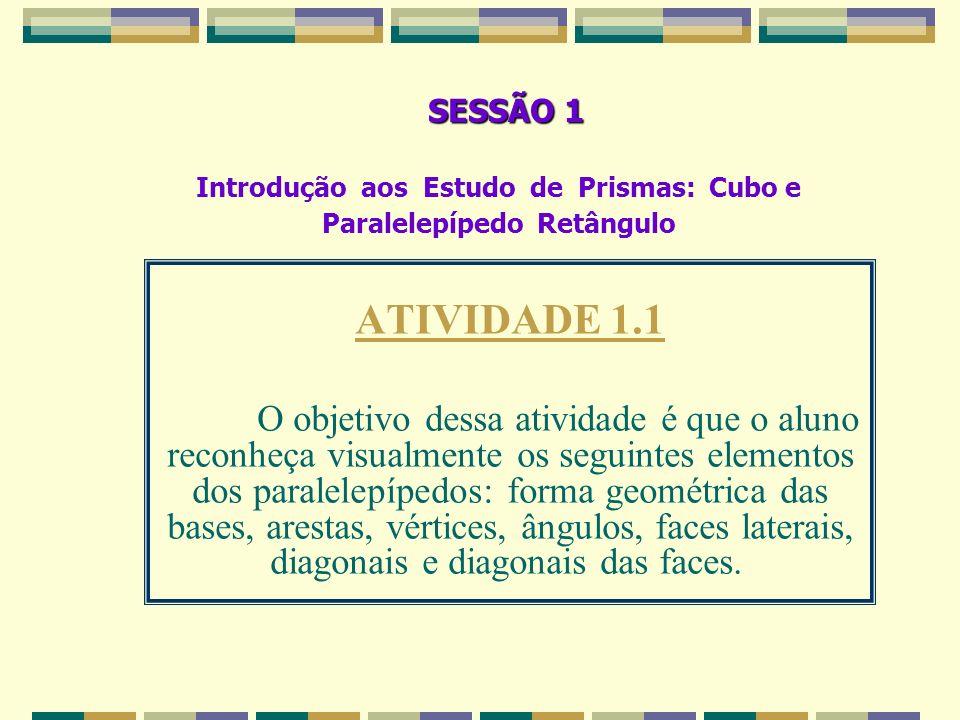 Introdução aos Estudo de Prismas: Cubo e Paralelepípedo Retângulo