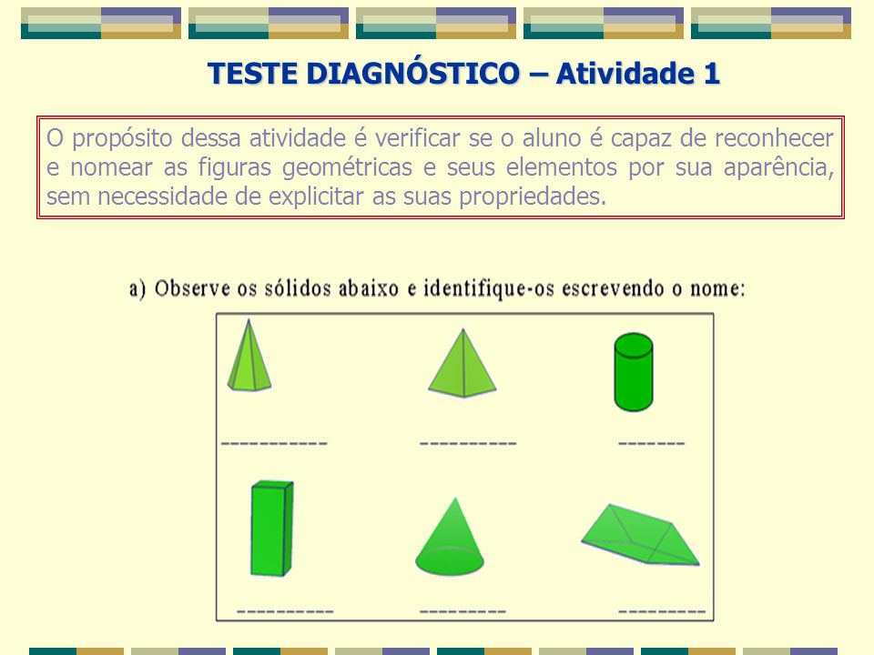 TESTE DIAGNÓSTICO – Atividade 1