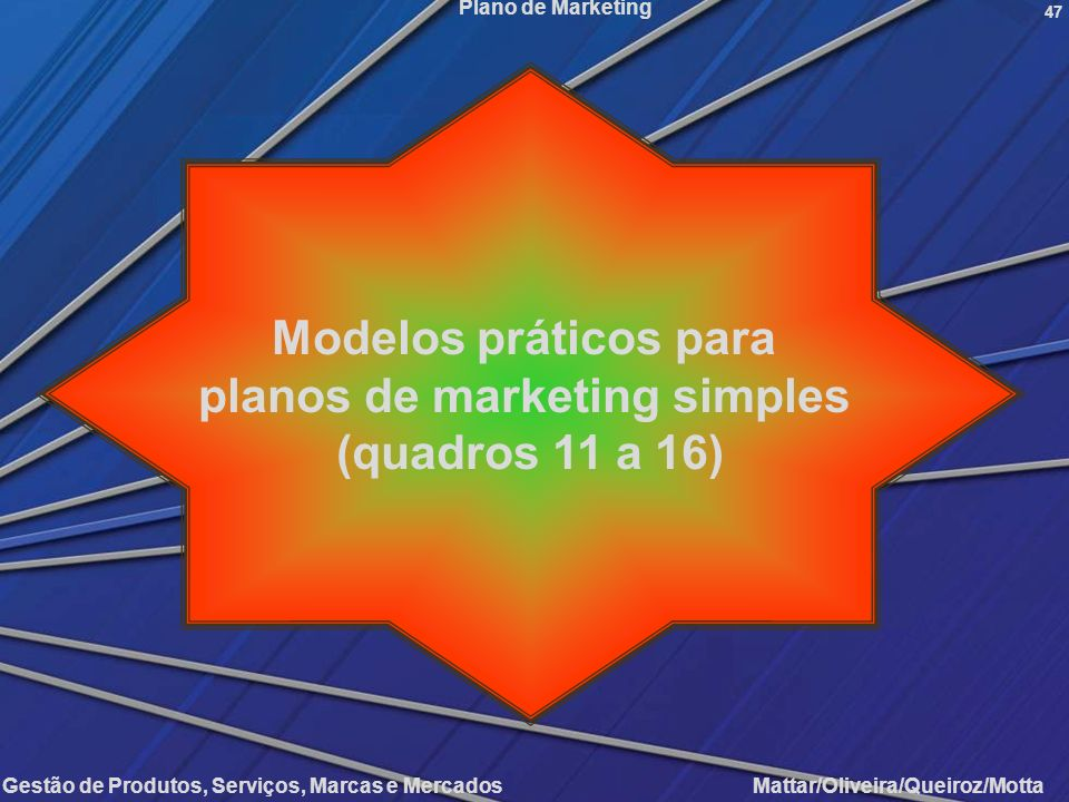 planos de marketing simples