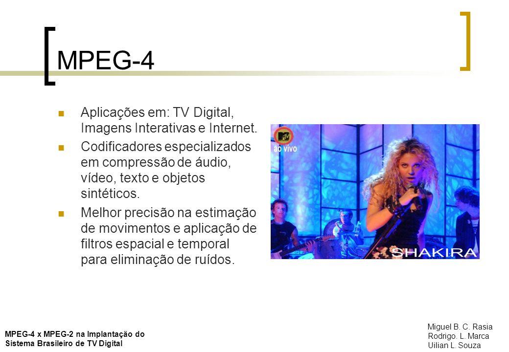 MPEG-4 Aplicações em: TV Digital, Imagens Interativas e Internet.