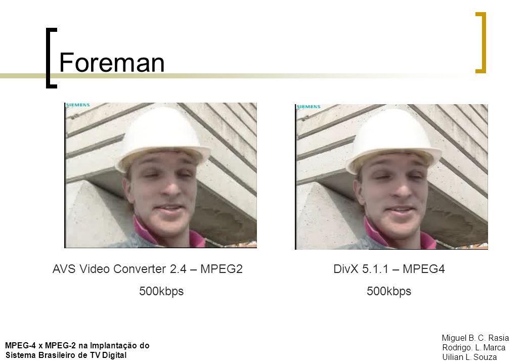 Foreman AVS Video Converter 2.4 – MPEG2 500kbps DivX 5.1.1 – MPEG4