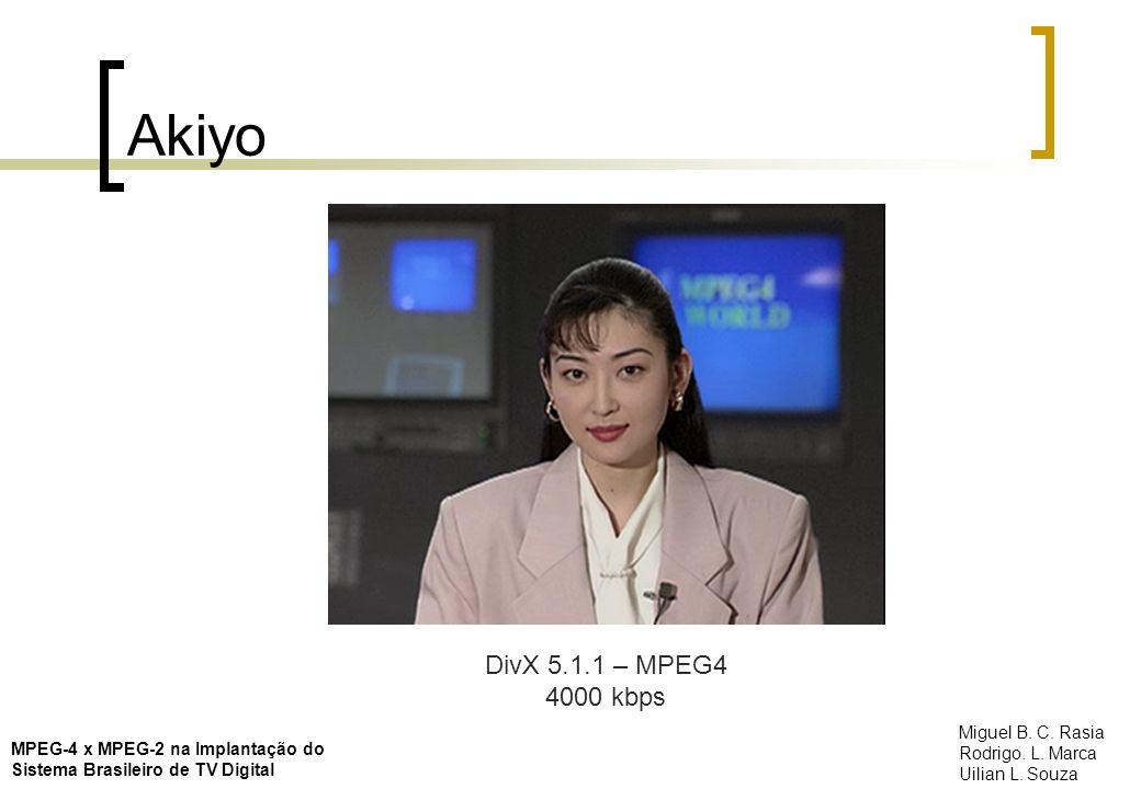 Akiyo DivX 5.1.1 – MPEG4 4000 kbps Miguel B. C. Rasia