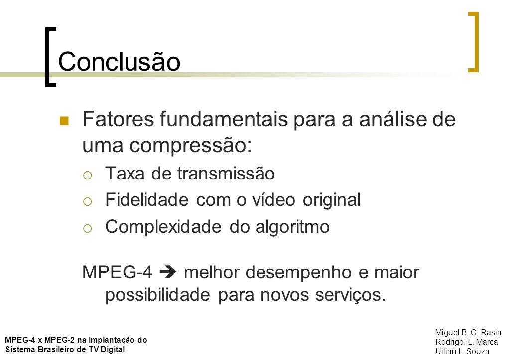 Conclusão Fatores fundamentais para a análise de uma compressão: