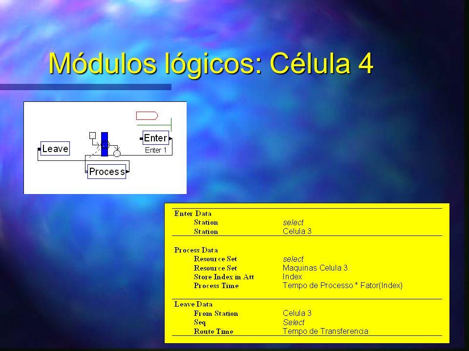 Módulos lógicos: Célula 4