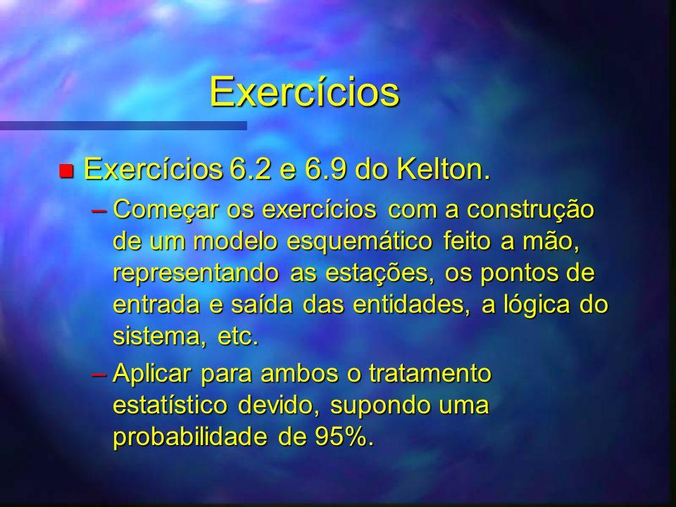 Exercícios Exercícios 6.2 e 6.9 do Kelton.