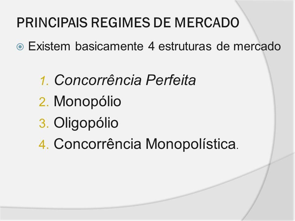 PRINCIPAIS REGIMES DE MERCADO