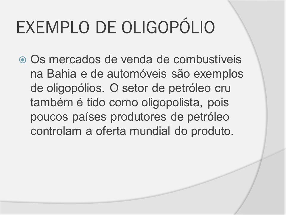 EXEMPLO DE OLIGOPÓLIO
