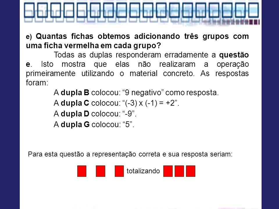 A dupla B colocou: 9 negativo como resposta.