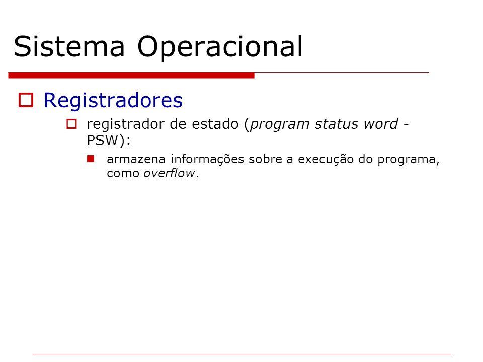 Sistema Operacional Registradores