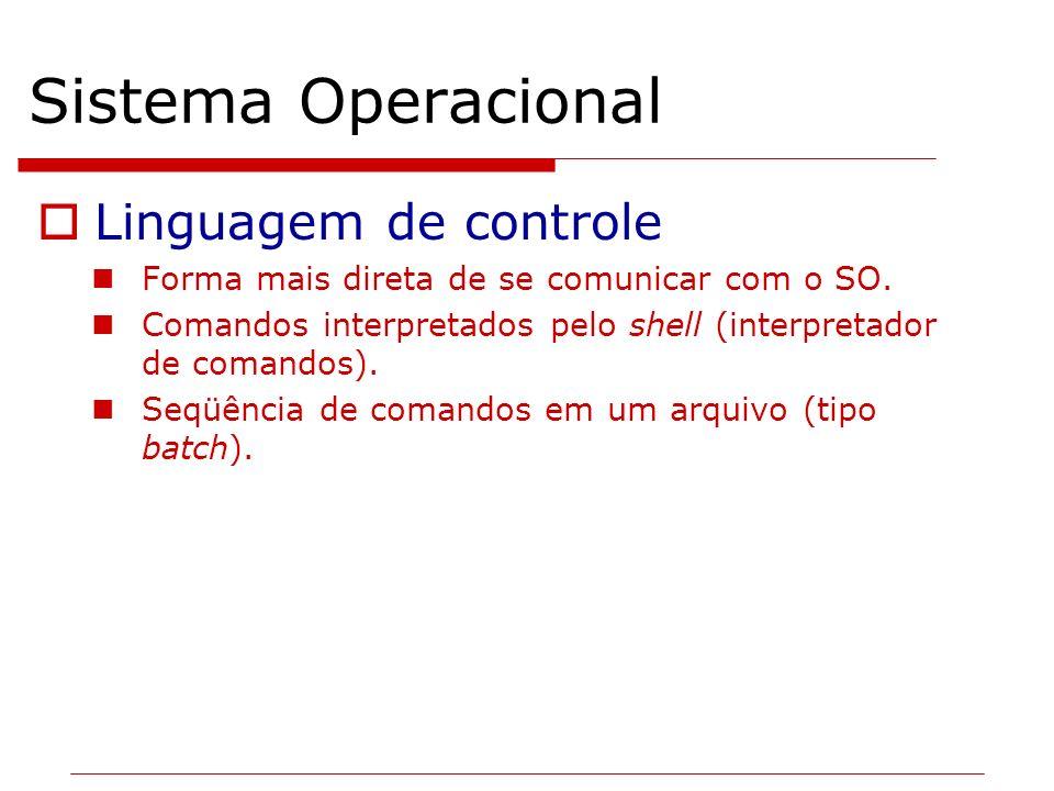 Sistema Operacional Linguagem de controle